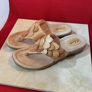 Clark's Artisan Tan Sandals Size 5 Leather Upper